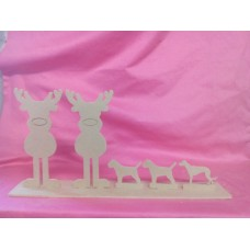 4mm MDF Reindeer Family Design 1